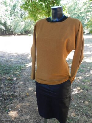 Soya Concept: soft mustard long sleeve top