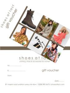gift voucher shoes at last surbiton