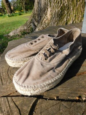 Natural World: taupe cotton espadrille pump  Homepage DSCN7063 300x400