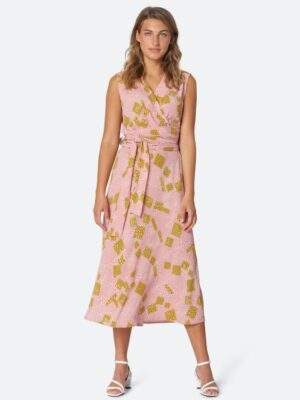 Ilse Jacobsen: cross over top midi dress  Homepage WAF7107CARRE 923 300 medium 300x400