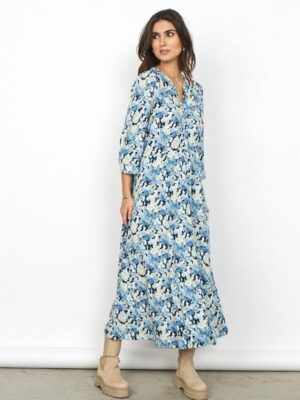 Soya Concept: blue print long dress  Homepage 17252 1000S2021 6350C 463fb1fe 8e15 454b baca 7458795b01a0 467x 300x400