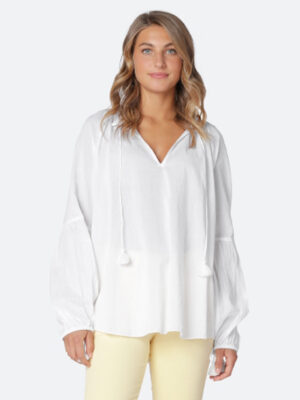 Ilse Jacobsen: white voile pretty blouse