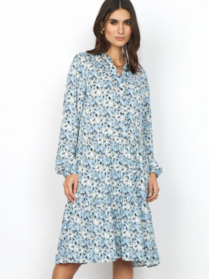 soya concept: blue ditsy print floaty dress  Homepage soya consept blue print dress shoes at last 300x400