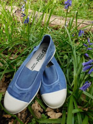 Natural World: light blue elasticated front cotton pump  Homepage DSCN7494 300x400