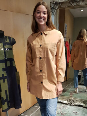 Soya Concept: tan cotton jacket