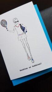 proud london tennis shoes at last proud london: tennis card Proud London: tennis greetings card, doubles or bubbles 20210709 120344 169x300