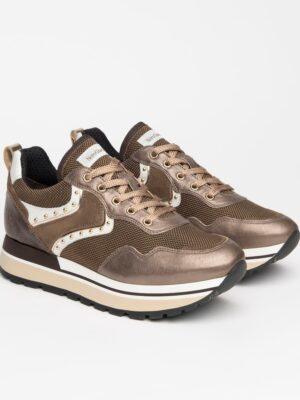 Nerogiardini: brown, bronze and white leather trainer homepage Homepage I116941D 322 03 300x400