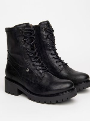 Nerogiardini: soft brown leather long boot