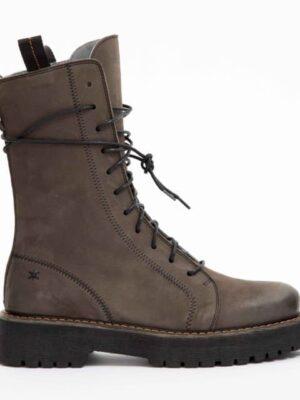 Patrizia Bonfanti: choco/grey nubuck lace-up thick crepe sole long ankle boot homepage Homepage SCOPRIO MART NABUK UNDERGROUND 1 300x400