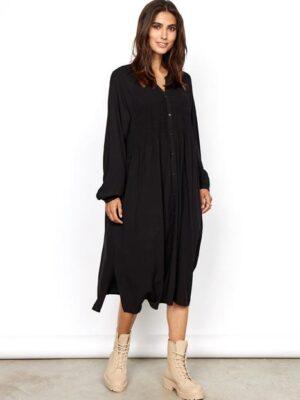 soya concept: black smock dress